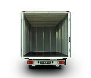 Abra la furgoneta de entrega Fotografía de archivo