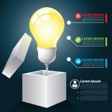 Abra la idea infographic Fotos de archivo libres de regalías