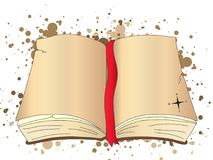 Abra la ilustración de libro Imagenes de archivo