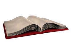 Abra la ilustración de libro en blanco Foto de archivo