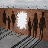 Abra la inmigración ilustración del vector