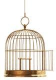 Abra la jaula de pájaro Fotos de archivo libres de regalías