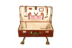 Abra la maleta vieja Imágenes de archivo libres de regalías