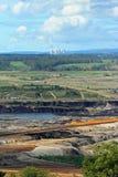Abra la mina de carbón del corte Imagenes de archivo