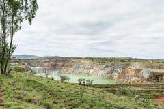 Abra la mina de oro del corte, Ravenswood, Queensland, Australia imagen de archivo libre de regalías