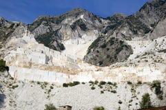 Abra la mina del mármol blanco Foto de archivo libre de regalías