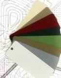 Abra la paleta de colores. Foto de archivo libre de regalías