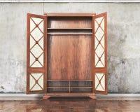 Abra la pared cerca enyesada vieja del armario Imagenes de archivo