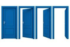Abra la puerta azul Imagen de archivo libre de regalías