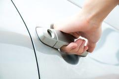 Abra la puerta de coche Imagen de archivo libre de regalías