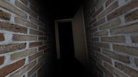 Abra la puerta Una puerta abierta en la oscuridad Puerta con el canal alfa 61 metrajes