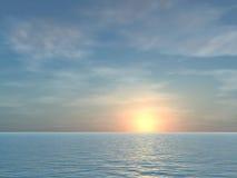 Abra la salida del sol tropical del mar Fotografía de archivo