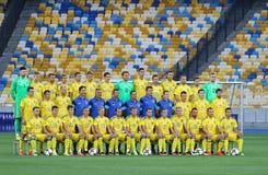 Abra a la sesión de formación del equipo de fútbol del nacional de Ucrania Fotografía de archivo