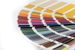 Abra la tarjeta del color de RAL/Pantone fotografía de archivo libre de regalías