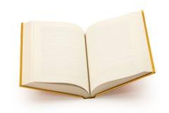 Abra la trayectoria en blanco del libro-cilipping del oro Fotos de archivo libres de regalías