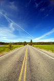 Abra largamente a estrada Fotografia de Stock