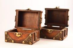 Abra las cajas de madera Imagen de archivo libre de regalías