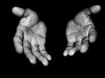 Abra las manos Imagen de archivo libre de regalías