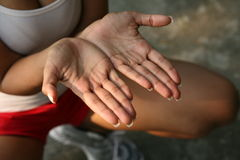Abra las manos Foto de archivo libre de regalías