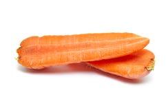 Abra las mitades de la zanahoria Foto de archivo libre de regalías