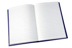 Abra las paginaciones de un cuaderno. Fotografía de archivo libre de regalías