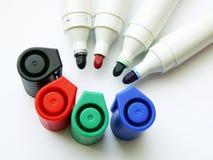 Abra las plumas felt-tip (las etiquetas de plástico) Imagen de archivo libre de regalías
