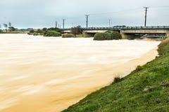Abra las puertas de inundación Fotografía de archivo libre de regalías