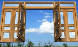 Abra las puertas en el paraíso celestial Fotografía de archivo libre de regalías