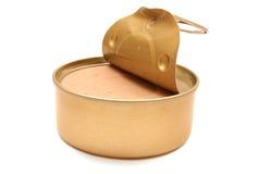 Abra a lata de estanho da pasta Imagens de Stock