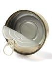 Abra a lata vazia do metal imagem de stock royalty free