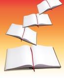 Abra livros imagem de stock
