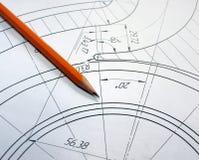 Abra los dibujos con un lápiz El dirigir y diseño Imagenes de archivo