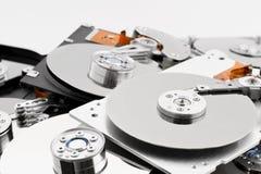 Abra los discos duros en bulto Imagen de archivo libre de regalías