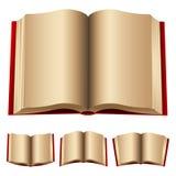 Abra los libros rojos Foto de archivo libre de regalías