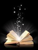 Abra a mágica do livro ilustração do vetor