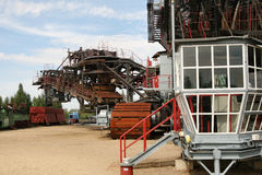 Abra a máquina escavadora da mineração Imagem de Stock Royalty Free