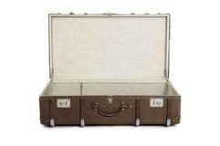 Abra a mala de viagem Foto de Stock Royalty Free