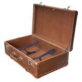 Abra a mala de viagem do vintage Foto de Stock Royalty Free