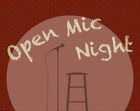 Abra a Mic Night Foto de archivo libre de regalías