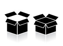Abra o ícone da caixa Foto de Stock