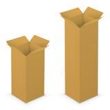 Abra o amarelo da caixa Fotografia de Stock