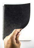 Abra-o blacknotebook Imagem de Stock