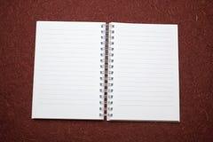 Abra o bloco de notas: Uma vez? Fotos de Stock Royalty Free