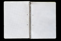 Abra o caderno Foto de Stock