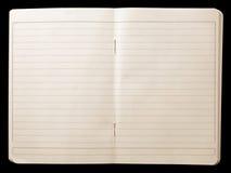 Abra o caderno Imagem de Stock