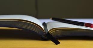 Abra o caderno Fotografia de Stock