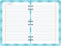 Abra o caderno do bloco de notas com espiral Fotografia de Stock Royalty Free