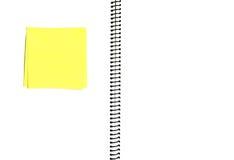 Abra o caderno em branco imagem de stock