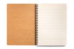 Abra o caderno em branco Imagens de Stock Royalty Free