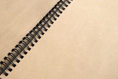 Abra o caderno, livro com páginas vazias, fundo de papel Fotos de Stock Royalty Free